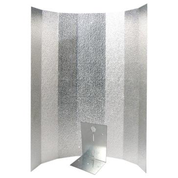 Reflektorkappe, Stucco, groß, 50 x 50 cm, Bügel verstärkt für Energiesparlampen, Schraubensatz
