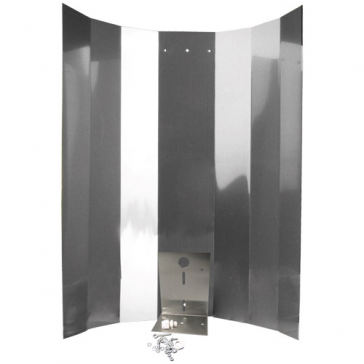 Reflektorkappe, Hochglanz, 50 x 50 cm, mit Bügel, Schraubensatz