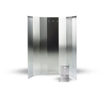 Mithralit-Reflektor, montiert 50 x 50 cm, mit Bügel