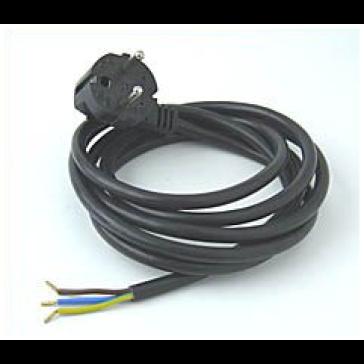 Netzstecker mit flexiblem Feuchtraumkabel  0,75 mm²