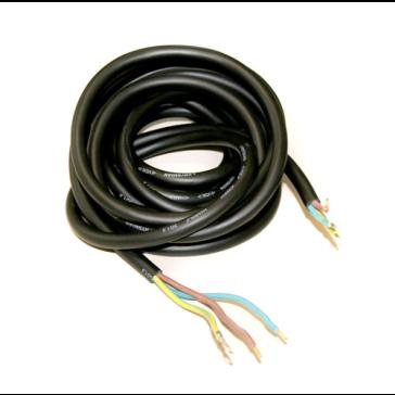 Zuschnitt für SAS-Kabel, schwarz, 4 m 3 x 1,5 mm²