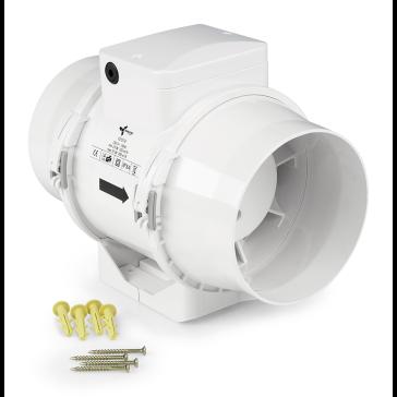 Ventilution Mixed In-Line, 220/280 m³/h, für 125 mm Rohr, Kunststoff