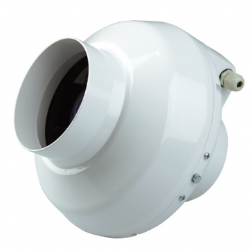 Ventilution Rohrventilator, 365 m³/h, für 125 mm Rohr, Kunststoff