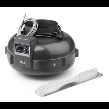 PK Rohrventilator 160, 800 m³/h, für 160 mm Rohr, integrierter temperaturabhängiger Drehzahlregler
