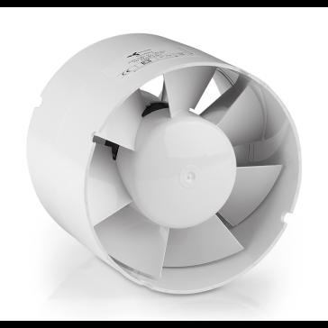 Ventilution Axiallüfter für 125 mm Rohr mit geradem Anschluss