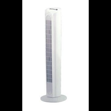 Turmventilator Duracraft, oszilierend, H=80 cm, 1160 m³/h, 40 W, ø 40 cm, 3 Schaltstufen, weiß
