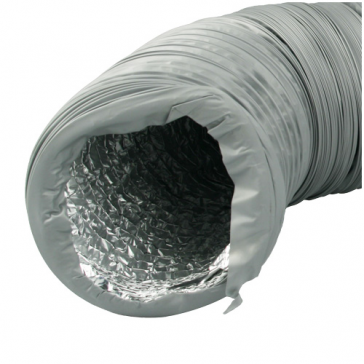 Ventilution Combi-Flexrohr, Alu/PVC, ø 162 mm, 10 m, grau