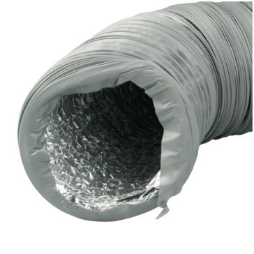 Ventilution Combi-Flexrohr, Alu/PVC, ø 254 mm, 10 m, grau
