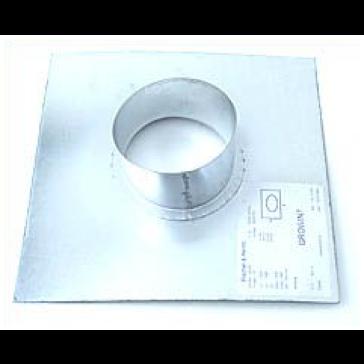 Wandflansch, Metall, für ø 100 mm