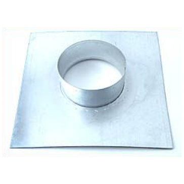 Wandflansch, Metall, für ø 125 mm