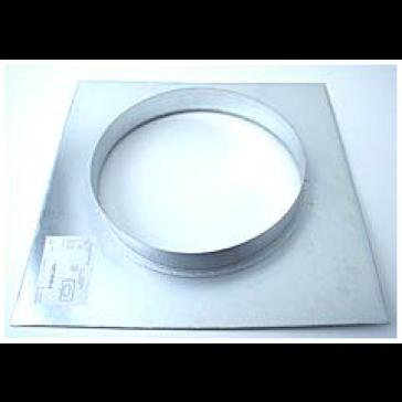Wandflansch, Metall, für ø 315 mm