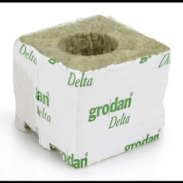 Grodan Delta 4 Kulturblock, 7,5 x 7,5 x 6,5 cm, großes Loch, 40/35*1 MID