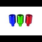 Steckkopf, Alu, large, verschiedene Farben