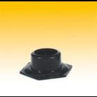 Scorpion Bongfuß, 6-eckig, Plastik, schwarz, ø 40 mm, B = 9,5 cm (20 St/Box)