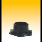 Scorpion Bongfuß, 6-eckig, Plastik, schwarz, ø 50 mm, B = 10 cm