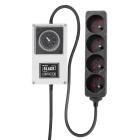 LUMii BLACK Zeitschaltuhr mit 4-fach Steckerleiste, Steckdosentyp E