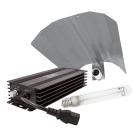 LUMii Black 10er Set elektronisches Vorschaltgerät regelbar mit Reflektor und Lampe, 600W